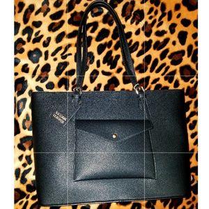 Handbags - Black Vegan Leather Tote Bag